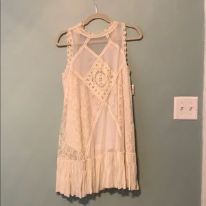Free People | Embroidered Ivory Dress